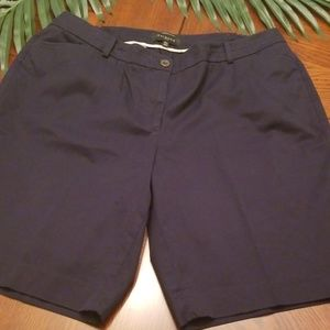 TALBOTS Perfect Shorts Plus 16W Navy Blue Chino